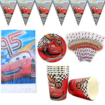 38pcs/lot For 12 Kids Cars Theme Birthday Party Decoration Tableware Set