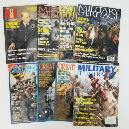 Lot of 8 Military History , Heritage & Great Battles War Historical Magazines