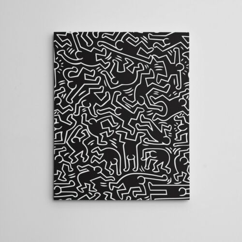 "16X20"" Gallery Art Canvas:  Contemporary Keith Haring Framed Hip Hop ""Dancers"""