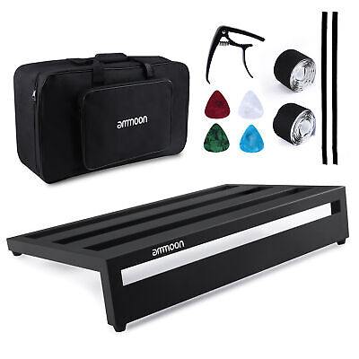Guitar Effect Pedal Board Aluminum Alloy Pedalboard with Carry Bag Fixing Tapes