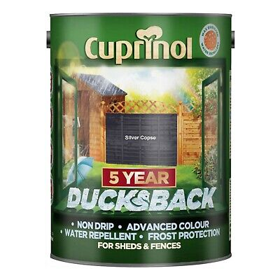Cuprinol Ducksback Silver Copse 5 Litre - multibuy available with buy it now!