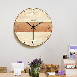 Large Wall Clock Silent Indoor Battery Powered Office Home Living Room Quartz