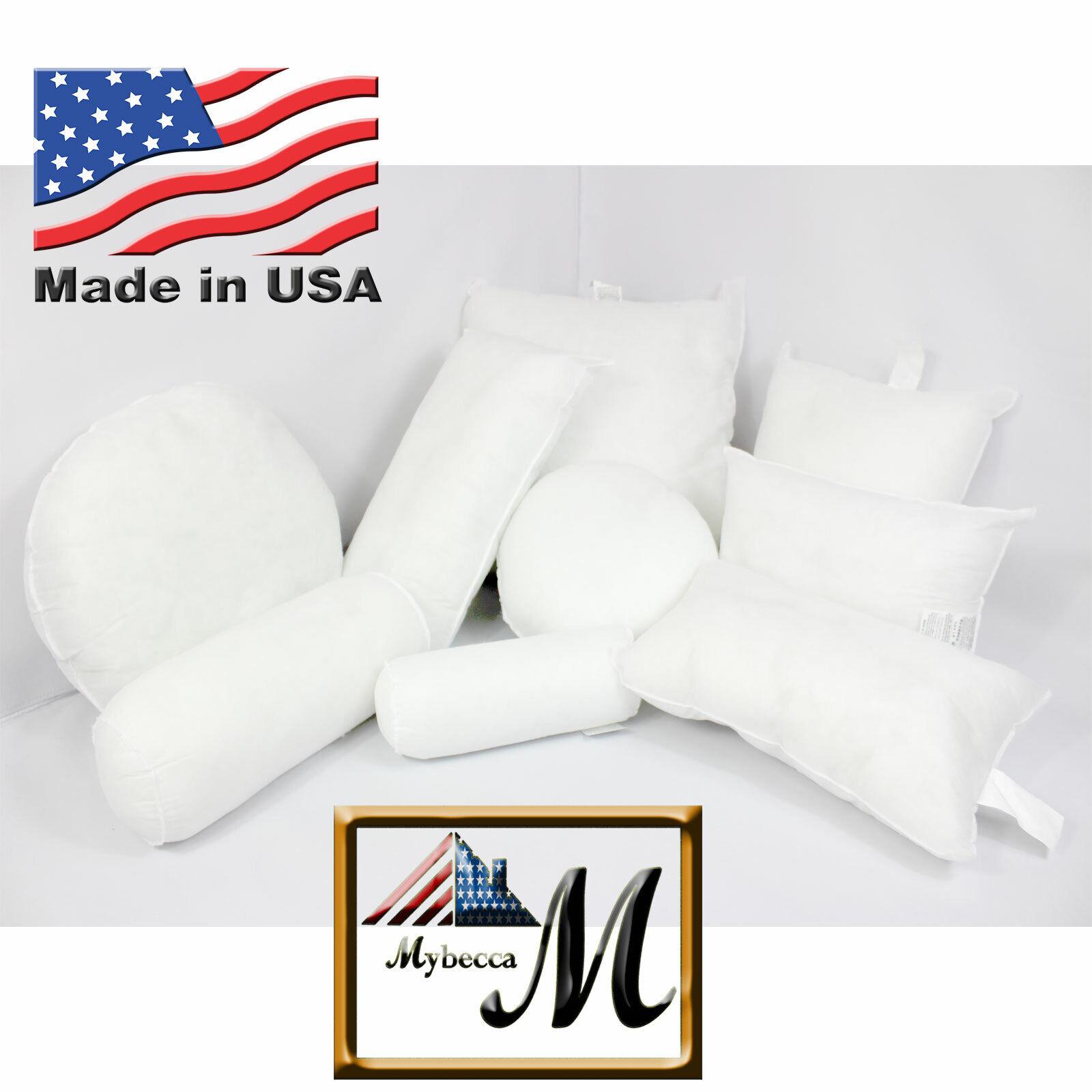 Mybecca New Hypoallergenic Square Euro Pillow Form Insert AL