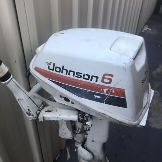 Johnson 6hp long shaft outboard motor