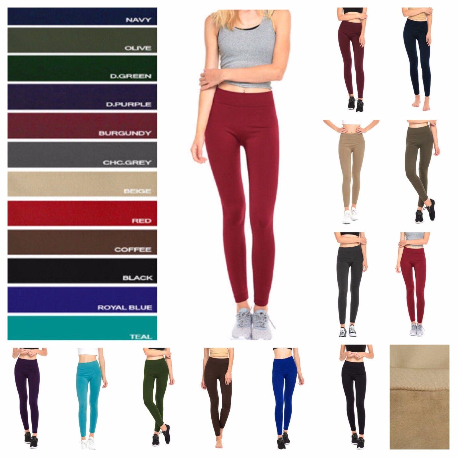 Women Fleece Leggings Fashion Casual Seamless Winter Warm Thermal  Tight Pants