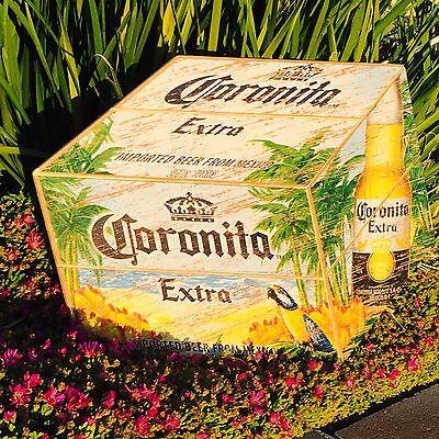 "Corona Extra Light Cerveza Beer Bar Man Cave Pub Beach Parrot Wood  Sign ""New"""