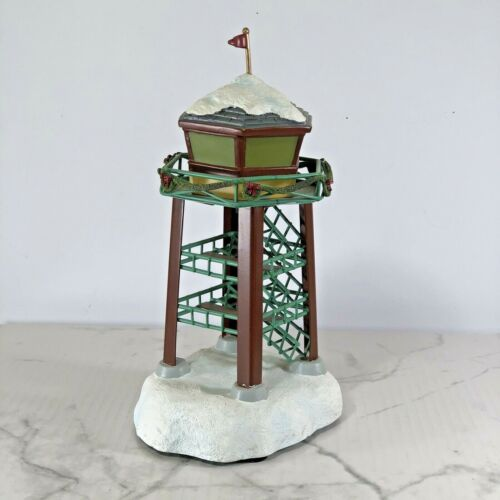 Hawthorne Village AIRCRAFT CONTROL TOWER Lights up Holiday Tower Train Accessory