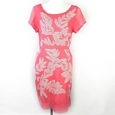 Pink Sequin Dress (YOANA BARASCHI Desert Bloom Sequin Dress Melon Pink Sz Medium $350)