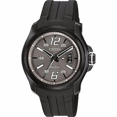 Citizen Eco-Drive Men's AW1354-15H Black Polyurethane Band Watch