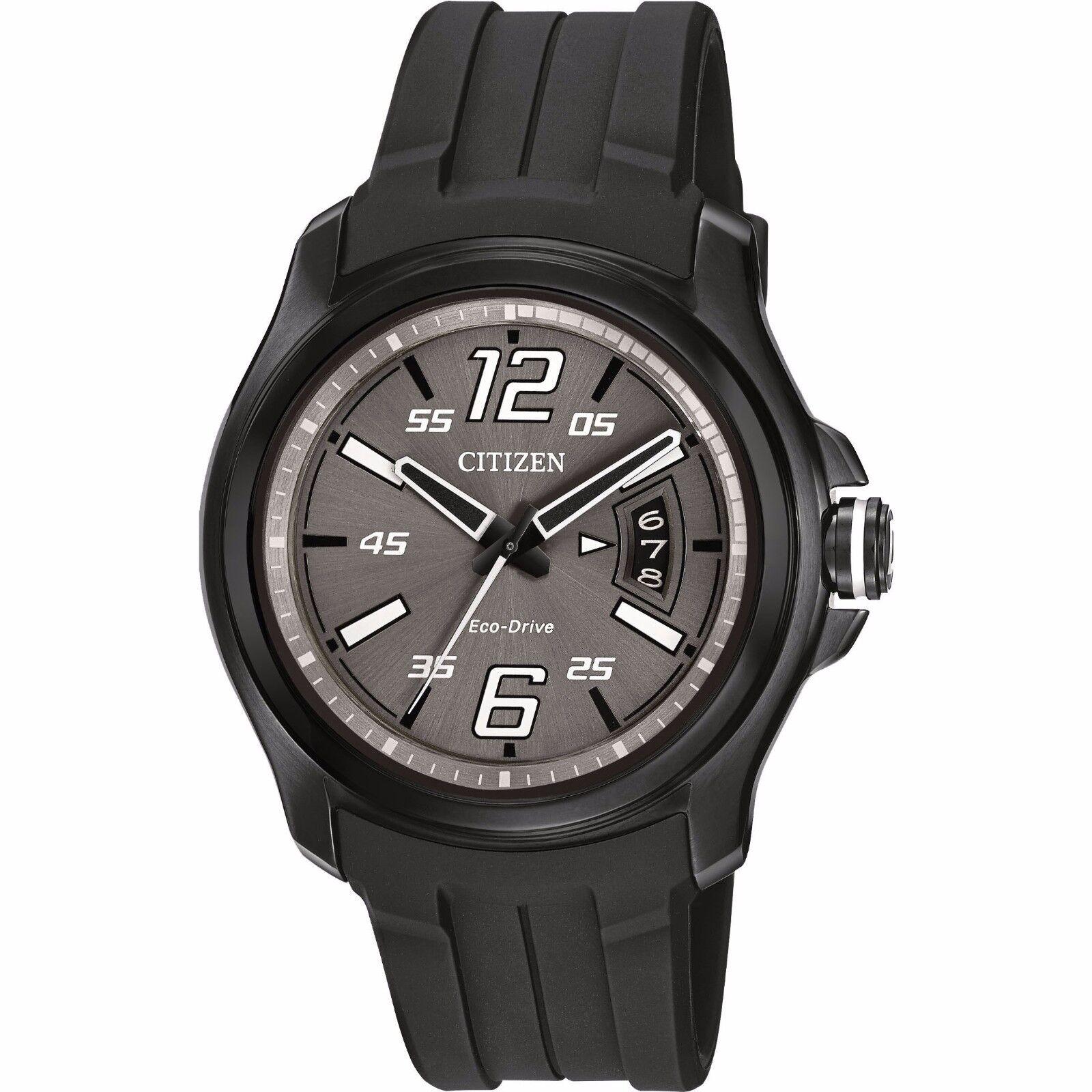 $87.99 - Citizen Eco-Drive Men's AW1354-15H Black Polyurethane Band Watch