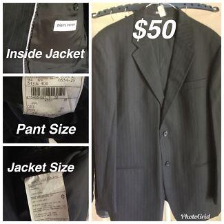 Pierre Cardin Suit (Jacket size 108Rand Pant size 94-fitting waist 89)
