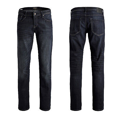 JACK & JONES JJI CLARK ORIGINAL AM 836 Herren Jeans Regular Fit Dark Blue Denim Dark Blue Denim