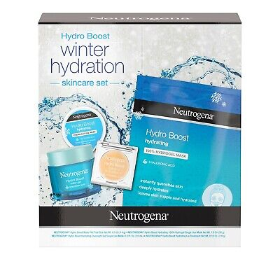 BEST Hydro Boost Winter Gift Set with Hyaluronic Acid Gel Cream, Sheet Face