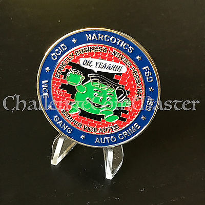 B76 Nypd OCCB Koolaid Guy Investigations Unit Challenge Coin Police - Koolaid Guy