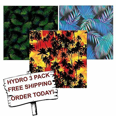 Hydrographic Film Water Transfer Printing Film Hydro Dip Palms 3 Pack
