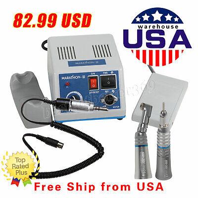 Dental Lab Marathon Micro Motor 35k Rpm W Straight Contra Angle Handpiece 8t2k
