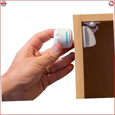 AYCORN Best Child & Baby Safety Proof Magnetic Cupboard Locks, 10 locks & 2