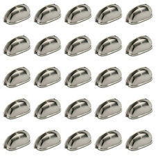 25 Pack of Brushed Satin Nickel Cabinet Hardware Bin Cup Drawer Handle Pulls