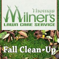 Fall clean ups. Snow removal. Yard clean ups