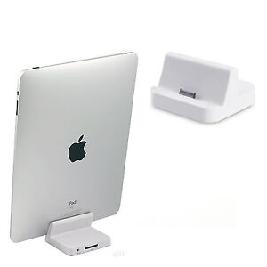 CHARGER DESKTOP DOCK STAND DOCKING STATION 8 PIN AUDIO FOR IPAD 2 3 4 CHARGING
