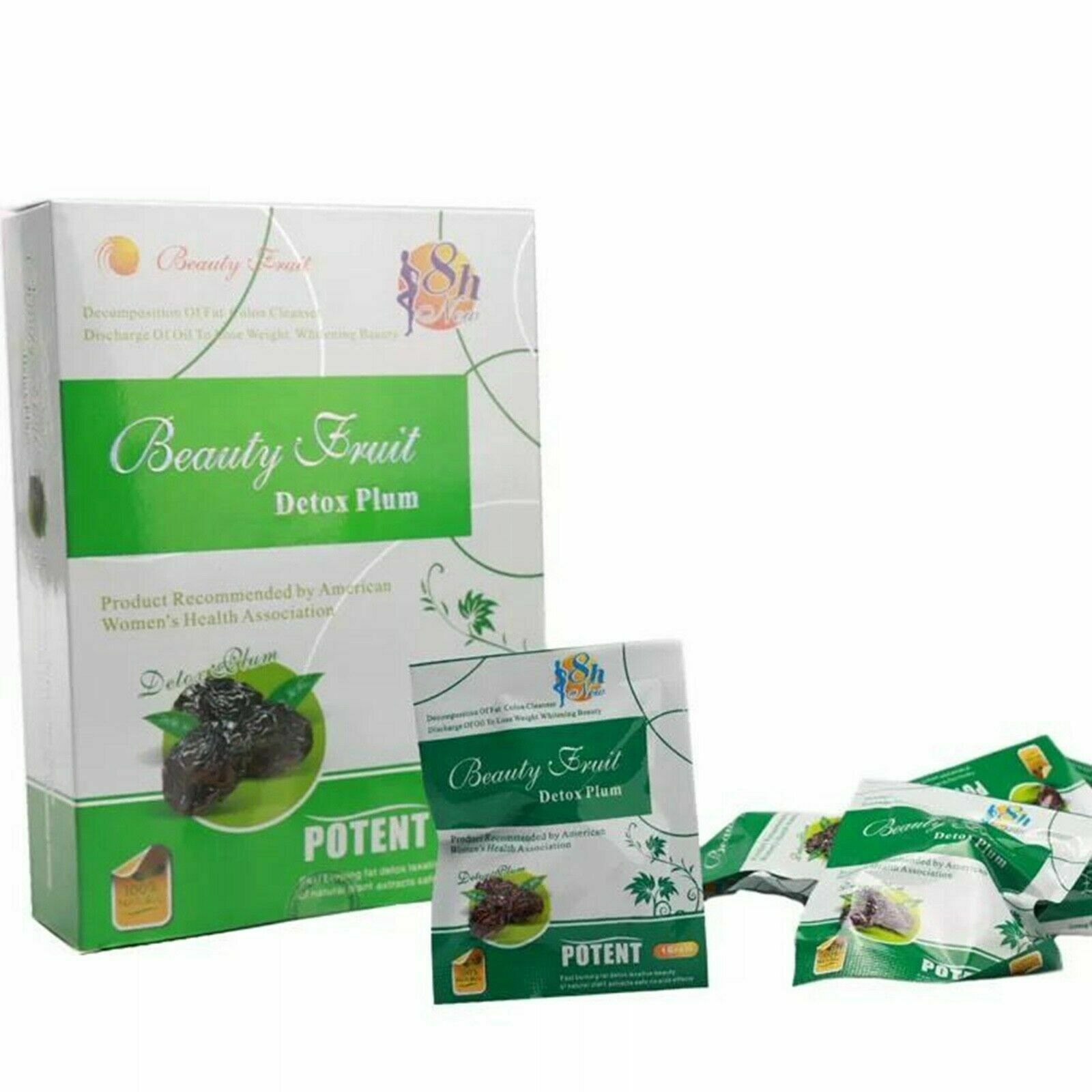 2 Boxes Beauty Fruit Detox Plum Slimming Fat Decomposition Weight Loss