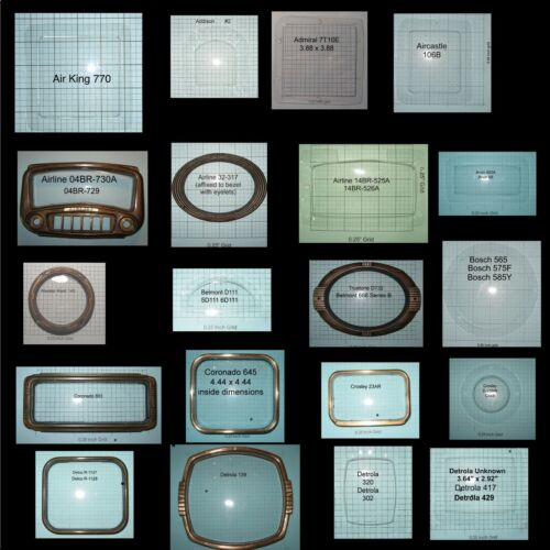 Antique Radio Dial Covers Makers A-G Airline Arvin Crosley Emerson Fada GE