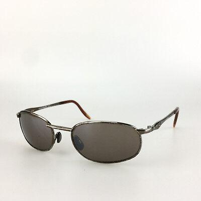 Vintage Ocean Pacific Sunglasses Oval Metal Brown Gunmetal Sport Shades (Ocean Pacific Sun Glasses)