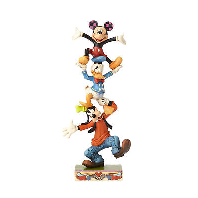 Jim Shore Donald Duck - Jim Shore Disney Teetering Tower Mickey Mouse Goofy Donald Duck 4055412 New