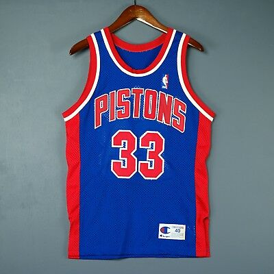 Authentic Grant Hill Champion Detroit Pistons NBA Jersey Size 40 M S