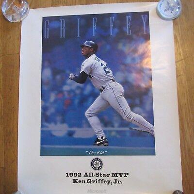 c41a81eb1c 1992 KEN GRIFFEY JR MICROSOFT ALL-STAR MVP POSTER-RARE