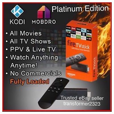 New Quad Core AMAZON FIRE TV STICK JAILBROKEN Mobdro KODI 16.1, FULLY LOADED ��