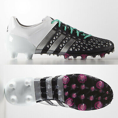 adidas Ace 15.1 FG AG Mens Football Boots Black White SIZE 7-11 AF4087