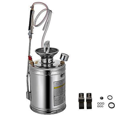 Stainless Steel Pest Control Sprayer Handheld Pumped Garden Cleaning 1Gallon