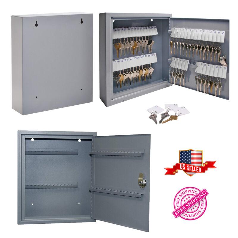 Steel 60 Key Security Storage Safe Cabinet Box Wall Mount Holder Organizer Rack