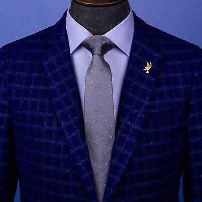 Grey Floral Patterned 3 Inch Modern Fashion Tie 7.5CM UK Fashion Necktie Apparel