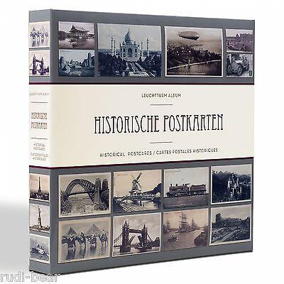 Postkartenalbum für bis zu 600 Postkarten !  Motiv historische Karten     348003