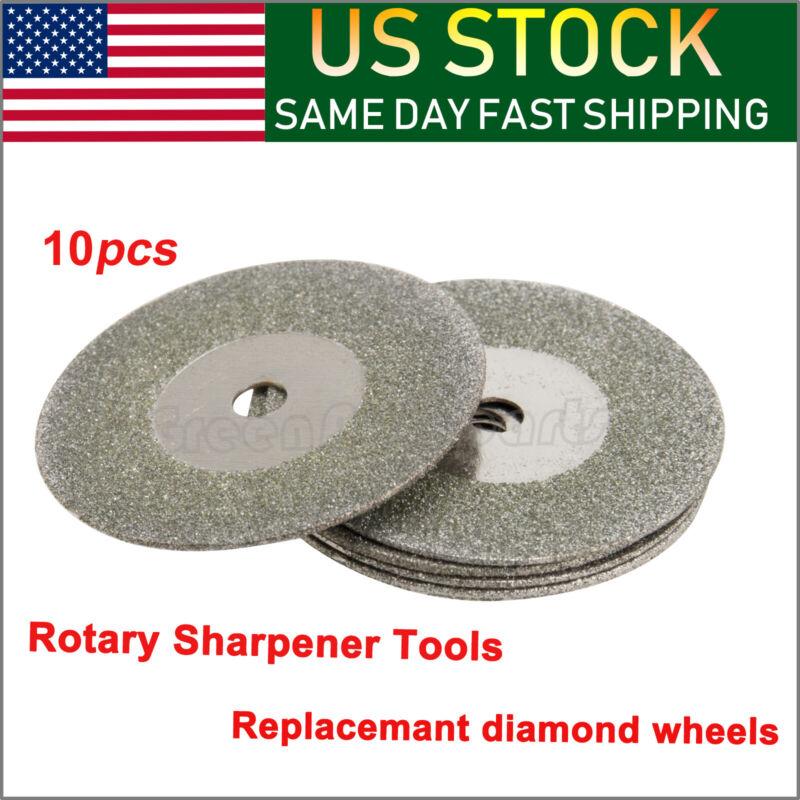 10x 25mm Diamond Replacemant Wheels  Tungsten Grinder Sharpener Tool