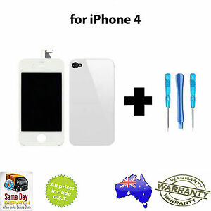 iPhone 4 / 4G Replacement LCD Touch Screen Digitizer & Rear Battery Cover- WHITE