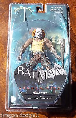 DC BATMAN ARKHAM CITY CLOWN THUG WITH CLUB & ORANGE HAIR ACTION FIGURE. NOC for sale  Shipping to India