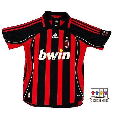 AC Milan 2006/07 Home Soccer Jersey Medium Adidas Serie A