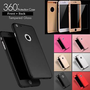 Hybrid-360-Shockproof-Hard-Case-Cover-amp-Tempered-Glass-For-iPhone-6-6S-6-Plus