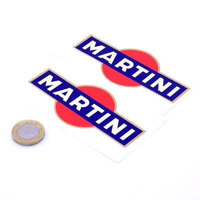 Martini Stickers R&B Classic Car Rally Motorbike F1 Racing Vinyl Decals 100mm x2