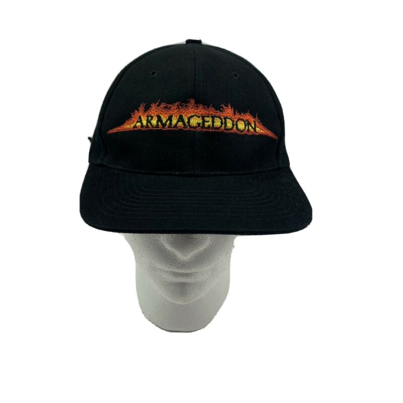 Vintage Touchstone Armageddon Hat Nissin Cap Black Embroidery