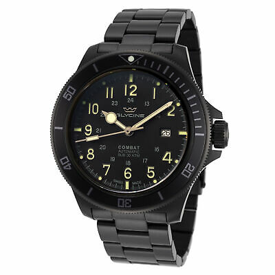 Glycine Men's Combat Sub GL0256 46mm Black Dial Stainless Steel Watch