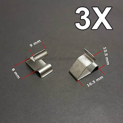 3X Sheet Metal Clamp, metal retaining clips, plug-in clips for Audi, VW, Skoda for sale  Shipping to United States