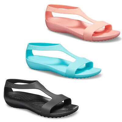Crocs Leichte Sandalen (Crocs Sandalen Serena Damen Aufziehschuhe Leicht Strandurlaub Bequeme Schuhe)