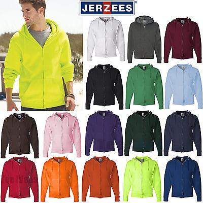 JERZEES Mens NuBlend Full-Zip Hooded Sweatshirt Fleece Hoodi