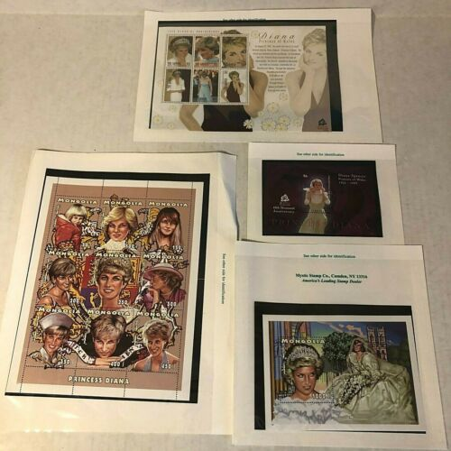 Collectible Stamps Princess Diana Stamp Lot 1998 + 10th Memorial Wales Mongolia