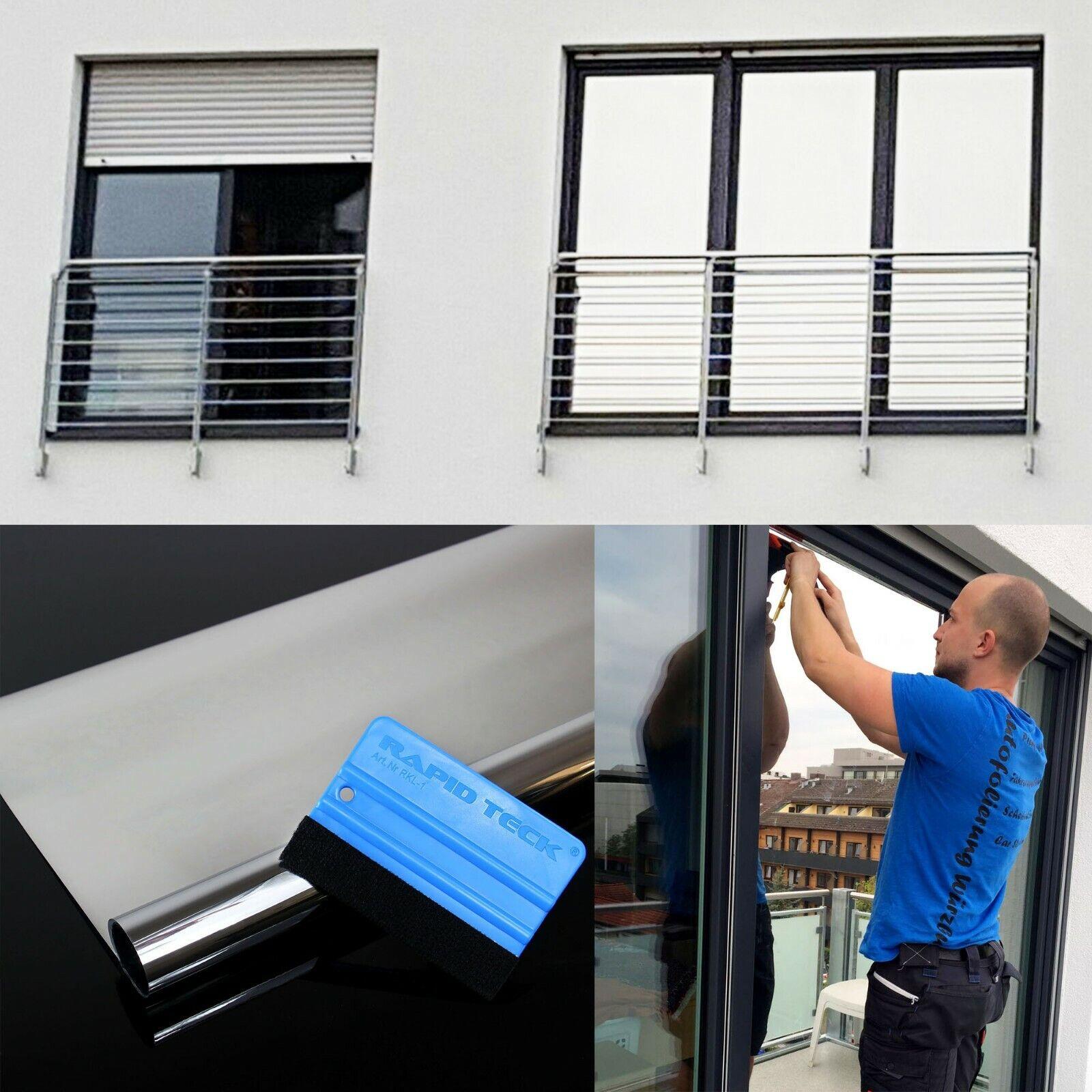 5,49€/m² - Spiegelfolie Fensterfolie Spiegel  Folie Fenster Glas Scheiben Spion