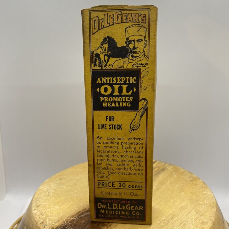 RARE DR LEGEAR'S ANTISEPTIC VETERINARY OIL - BOX AND INSERT ONLY
